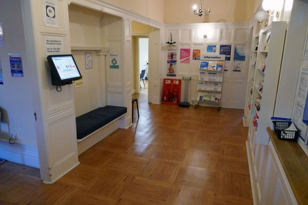 Reception area at Ear Care Lab